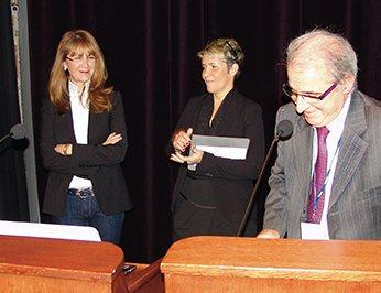 Sophia Aroca (à gauche)