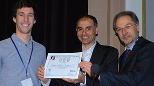 Julian Leprince (lauréat 2013), Jean-Pierre Attal (SFBD) et Dominique Martin (SOP)