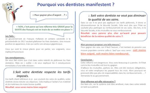 Pourquoi vos dentistes manifestent ?