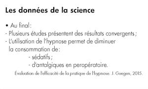 3 : Conclusions les plus souvent citées sur les effets secondaires constatés lors de l'utilisation de l'hypnose.