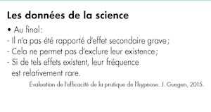 4 : Conclusions les plus souvent citées concernant la diminution des antalgiques utilisés lors l'utilisation de l'hypnose.